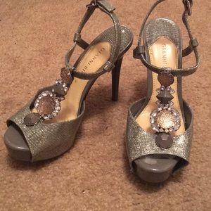Gianni Bini sparkly bedazzled heels